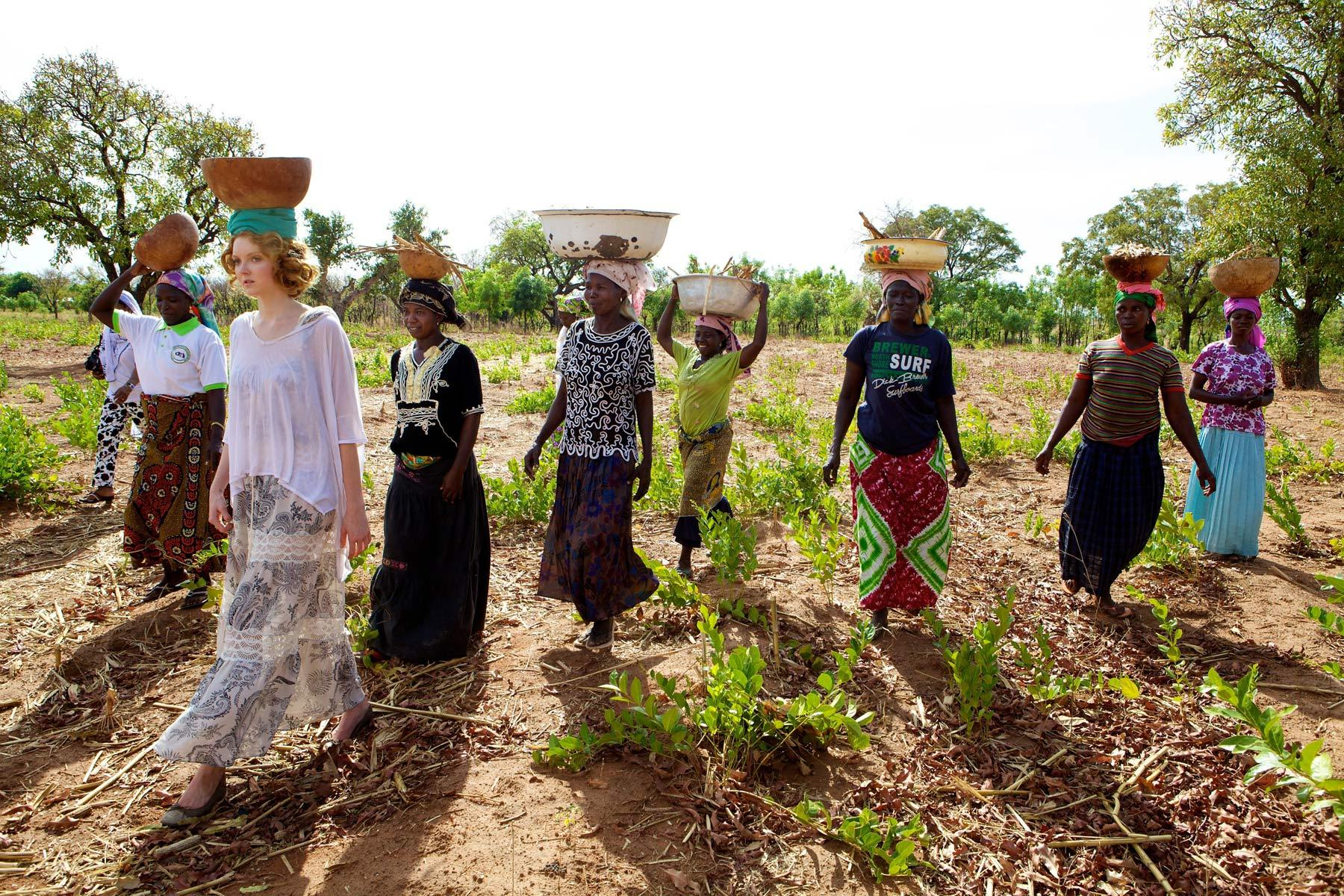 Lily Cole's Visit to Ghana